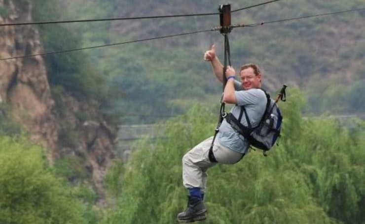 kevin abseiling in rural location